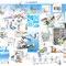 25 ans CEERI - Image anniversaire entreprise CEERI (88 Saulxures-sur-Moselotte) - illustrations encre et crayon  noir - 70 x 50 cm - 2015<br><br>Illustration . dessin . peinture