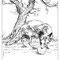 Le Corbeau et le Renard - Devinette - Dessin au trait - A4 - 2010<br><br>Illustration . dessin . animalier . animal