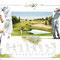 Le Golf - Image d'Epinal - 65 x 50 cm - 2003<br><br>Artiste peintre . illustrateur . imagier . illustration à thème . sport . golfeur . histoire du golf .