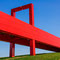 Michel Paret : Passerelle rouge : Cergy
