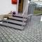 Granit (geflammt u. gebürstet) in Zusammenarbeit mit der Firma Hensel/Metallbau als Eingang