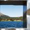 Davosersee - Blick durch eine Plastik von Johann Peter Kissling (Schweiz)