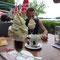 Boah, der Eiskaffee!! Hainburg, Österreich.