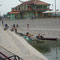 Bootsfahrer der TID (Tour International Danubien) in Apatin, Serbien.
