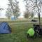 Campingplatz in Zaval, Rumänien.