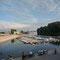 Hafen in Apatin, Serbien.