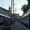 Mit dem Zug nach Budapest, Ungarn.