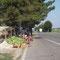 Türkischer Melonenverkäufer, auf dem Weg nach Silistra, Bulgarien.
