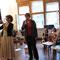 """(v.r.n.l.) die Repräsentatorin Heike Hampel, die """"Auktionatorin"""" Cornelia Hähne sowie die Künstlerin & edle Spenderin Angela Hampel"""
