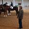 Christoph Glassmannn bedankt sich bei den Reitern für die schöne Quadrille