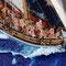 36-27 バージニア・スループ Virginia Sloop  1768年 アメリカ  1/48 自作 Scratchbuilt  岩本 和明 Kazuaki Iwamoto