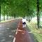Breite Radstreifen, wenn man denn einmal auf der Straße fahren muss