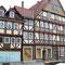 Hann Münden: links das Kleine Haus ist das Geburtshaus des Keilschriftentzifferers Friedrich Grotefend