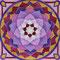 Mandala7, Aquarellfarbe & weiße, goldene Tusche, 2013, 13x13 cm, 22 Swarovski-Kristalle, € 50,-