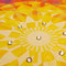 Mandala1, Aquarellfarben deckend, 2012, 19x19 cm, 7 Swarovski-Kristalle, € 80,-