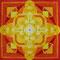 Mandala4, Aquarellfarbe & weiße Tusche, 2012, 19x19 cm, 17 Swarovski-Kristalle, € 100,-