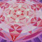 Mandala2, Aquarellfarbe & weiße Tusche, 2012, 19x19 cm, 19 Swarovski-Kristalle, € 100,- (bereits verkauft!)
