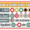 Für jede Tonart gleich: 12 mögliche Grund-Griffe · 7 Stufen: 3x Dur, 3x Moll, 1x vermindert (als Ersatz dient hier der Dominantsept-Akkord/Dom7 der Stufe V) · bis zu 6 Dom7-Akkorde, um Spannung zu erzeugen · mögliche Folge-Akkorde zum Auflösen