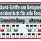 """Die Griff-Beispiele basieren auf dem Grundton c (C-Akkorde) · für andere Akkorde gilt: Farben vom c-Beispiel merken und Wunsch-Akkord je nach Tonart unter """"Die Klaviatur: 12 Töne"""" ablesen"""