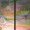 月の雫 アクリル 水彩色鉛筆 ケント紙 木製パネル 2007年作