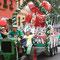 Festwagen 2012 des Sängerfestvereins, Digitaldrucke kaschiert, Platten dekupiert, ringsum montiert