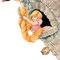 Rapunzel 02 - Aquarell, Buntstift
