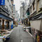 Les abords du marché aux poissons de Tokyo