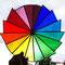 Tiffany Farbkreis Fensterbild Regenbogen