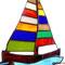 Segelboot Tiffany Fensterbild Segelschiff Regenbogen