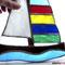 Segelboot Tiffany Fensterbild