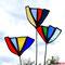 Blumen aus Tiffany Glas Gartenstecker