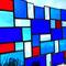 modernes Tiffany Fensterbild mit Facettengläsern