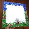 Spiegel mit Mosaik aus bunten Glasnuggets