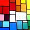 modernes Tiffany Fensterbild