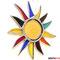 Bunte Sonne Tiffany Fensterbild
