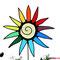 Gartenstecker bunte Sonne / Blume aus Tiffany