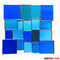 Fensterbild modernes Glasbild Tiffany blau