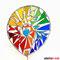 Gartenstecker Bunte Regenbogen Spirale Tiffany