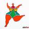 Nana (Niki de Saint Phalle) Tiffany Fensterbild