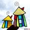 Hundertwasser Haus 2er Set Tiffany