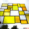 Sonnenfänger gelbe Vielfalt Tiffany Fensterbild