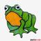 Frosch Tiffany Fensterbild