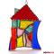 Hundertwasser Haus Tiffany Fensterbild