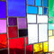 modernes Tiffany Fensterbild Regenbogen