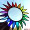 bunte Sonne Tiffany Fensterbild Regenbogen