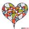 Blumenstecker Herz Tiffany