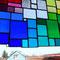modernes Tiffany Fensterbild XXL Regenbogen