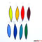 Tropfen / Blatt Anhänger 8er Set Fensterbild Regenbogen Tiffanyy