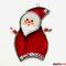 Weihnachtsmann Fensterbild Tiffany