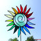 Gartenstecker bunte Sonne Tiffany Glas Regenbogen